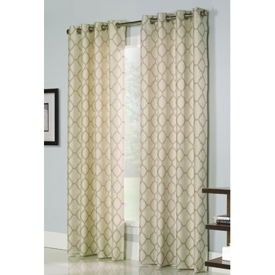 Three Posts Weatherly Grommet Curtain Panels