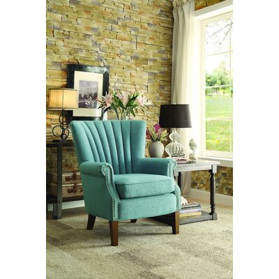 Caesar Armchair Upholstery: Light Blue