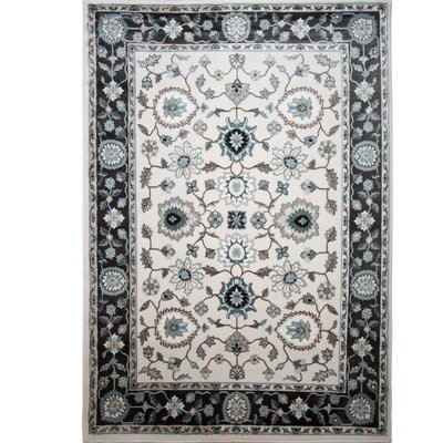 Hawley Grey/White Area Rug Rug Size: Rectangle 52 x 72