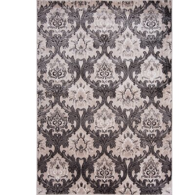 Hawley Transitional Taupe Area Rug Rug Size: 52 x 72