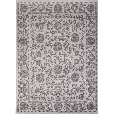 Klassen Gray/Ivory Indoor/Outdoor Area Rug Rug Size: Rectangle 79 x 102