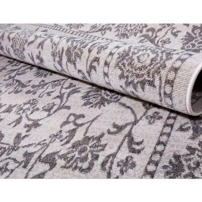 Klassen Gray/Ivory Indoor/Outdoor Area Rug Rug Size: Rectangle 52 x 72