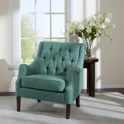 Rogersville Button Tufted Armchair Upholstery: Teal