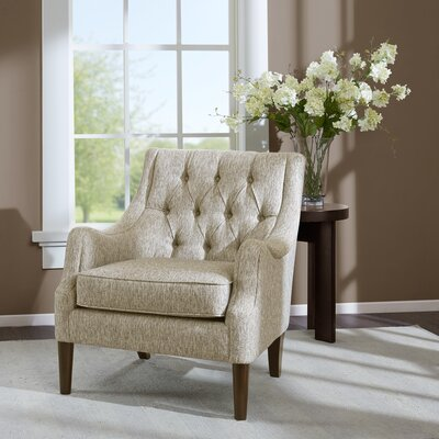 Rogersville Button Tufted Armchair Upholstery: Gray