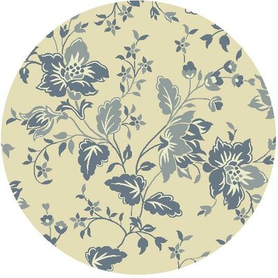 Tuscarora Hand-Hooked Cream/Blue Area Rug