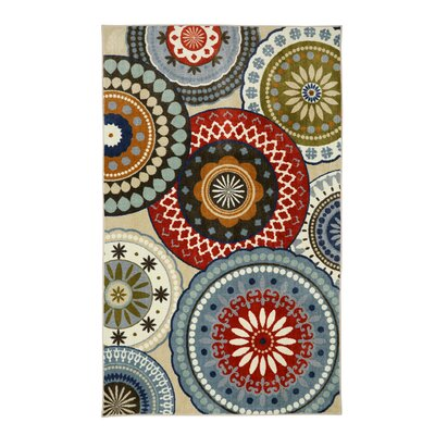 Churchill Blue Area Rug Rug Size: 5 x 8