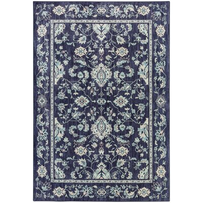 Bryan Rectangle Blue Area Rug Rug Size: Rectangle 53 x 710