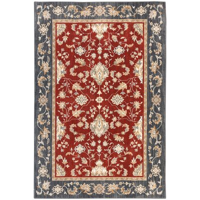 Wainwright Garnet Area Rug Rug Size: Rectangle 53 x 710