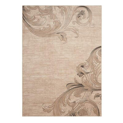 Regina Mocha Area Rug Rug Size: Rectangle 93 x 129