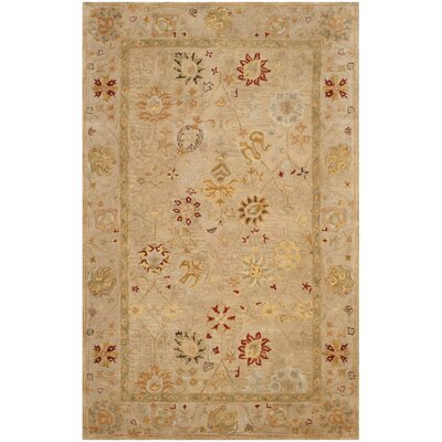 Ashville Hand-Tufted Taupe / Beige Area Rug Rug Size: 76 x 96