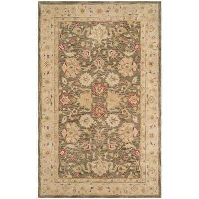 Ashville Hand-Tufted Olive / Beige Area Rug Rug Size: Rectangle 5 x 8