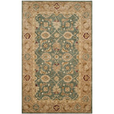 Ashville Hand-Tufted Green / Taupe Area Rug Rug Size: Rectangle 4 x 6