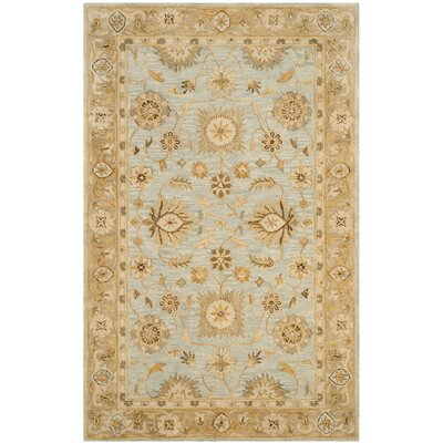 Ashville Hand-Tufted Light Bue / Beige Area Rug Rug Size: 2 x 3