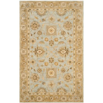 Ashville Hand-Tufted Light Bue / Beige Area Rug Rug Size: 76 x 96