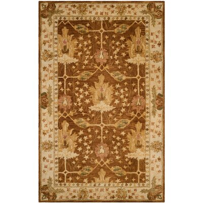 Ashville Hand-Tufted Brown / Beige Area Rug Rug Size: Rectangle 5 x 8