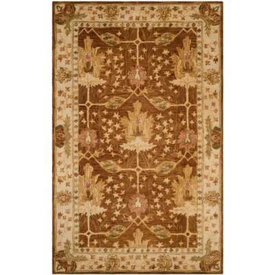 Ashville Hand-Tufted Brown / Beige Area Rug Rug Size: 2 x 3