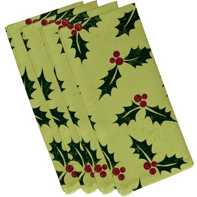 Allover Holly Napkin Color: Light Green
