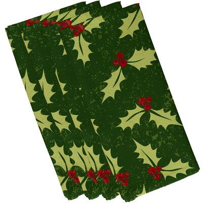 Allover Holly Napkin Color: Dark Green
