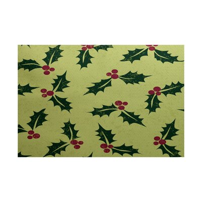 Holiday Green Indoor/Outdoor Area Rug Rug Size: 5 x 7