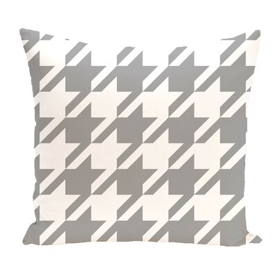 Donaldson Geometric Outdoor Throw Pillow Color: Gray