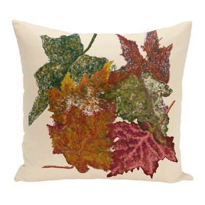 Byrnedale Autumn Outdoor Throw Pillow Color: Off White