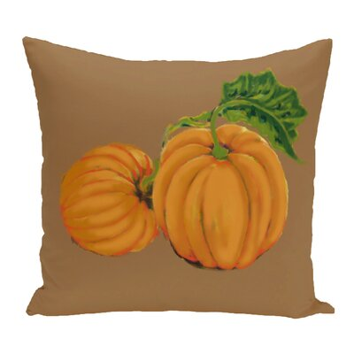 Greenmont Pumpkin Patch Holiday Outdoor Throw Pillow Color: Brown