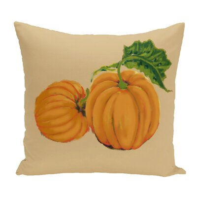 Greenmont Pumpkin Patch Holiday Outdoor Throw Pillow Color: Yellow