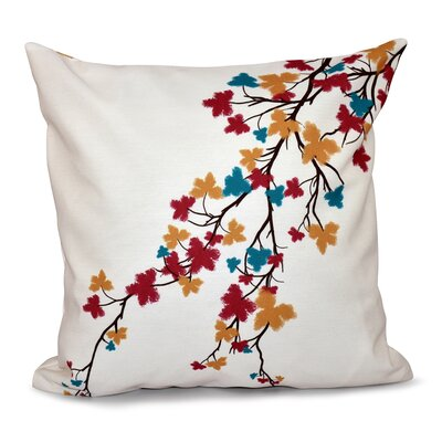 Marshallton Hues Floral Outdoor Throw Pillow Color: Teal