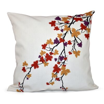 Marshallton Hues Floral Outdoor Throw Pillow Color: Purple