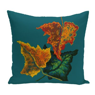 Wilmington Autumn Outdoor Throw Pillow Color: Teal