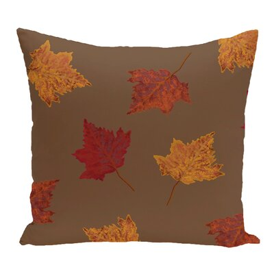 DeSales Dancing Leaves Floral Outdoor Throw Pillow Color: Brown