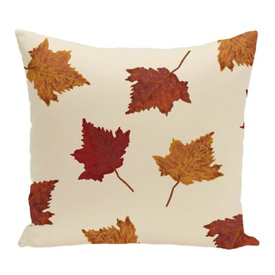 DeSales Dancing Leaves Floral Outdoor Throw Pillow