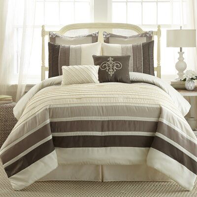 Cincinnati 8 Piece Comforter Set Size: King