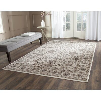 Bedford Ivory Area Rug Rug Size: Rectangle 67 x 92