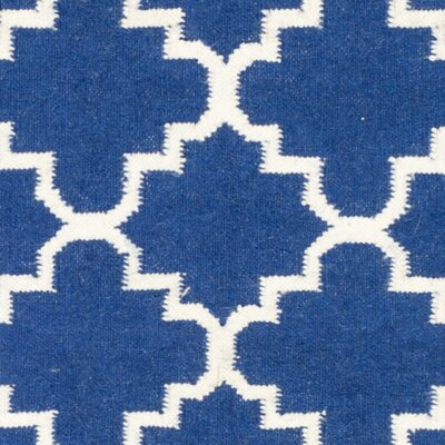 Danbury Dark Blue/Ivory Area Rug Rug Size: Runner 26 x 10
