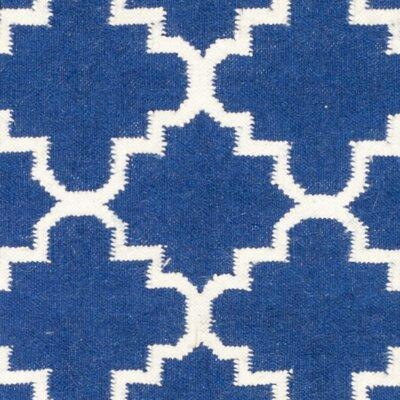 Danbury Dark Blue/Ivory Area Rug Rug Size: Runner 26 x 10