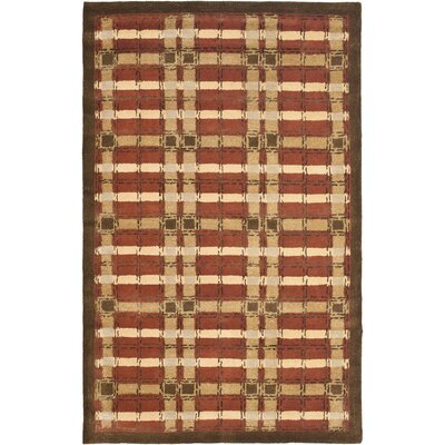 Colorweave Plaid Hand-Tufted Rust Area Rug Rug Size: Rectangle 96 x 136