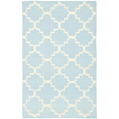 Danbury Light Blue & Ivory Area Rug Rug Size: 3 x 5