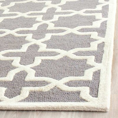 Cherry Hill Hand-Tufted Gray/Ivory Area Rug Rug Size: Rectangle 10 x 14