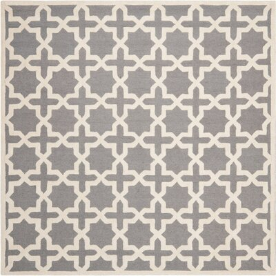 Cherry Hill Hand-Tufted Gray/Ivory Area Rug Rug Size: Square 8