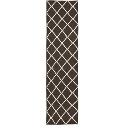 Danbury Hand-Woven Brown / Ivory Area Rug Rug Size: Runner 26 x 8