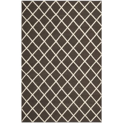 Danbury Hand-Woven Brown / Ivory Area Rug Rug Size: 4 x 6