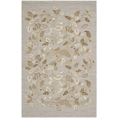 Autumn Woods Hand-Tufted Gray Squirrel Area Rug Rug Size: Rectangle 96 x 136
