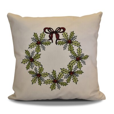 Decorative Holiday Throw Pillow Color: Green, Size: 18 H x 18 W