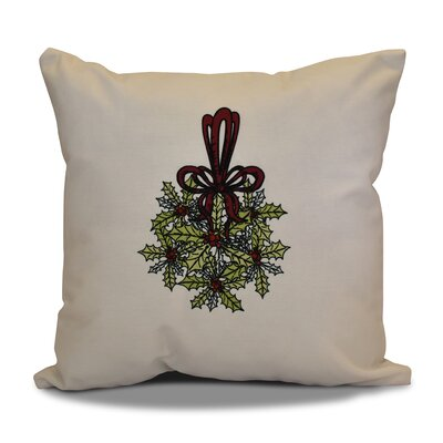 Decorative Holiday Throw Pillow Size: 16 H x 16 W, Color: Green