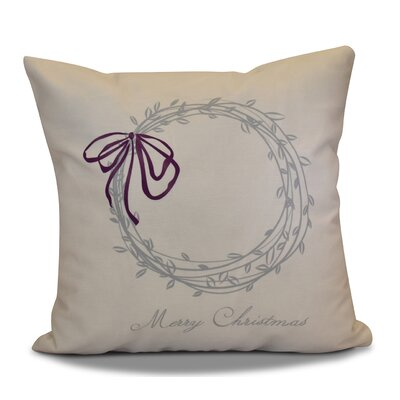 Merry Wishes Throw�Pillow Size: 18 H x 18 W, Color: Gray