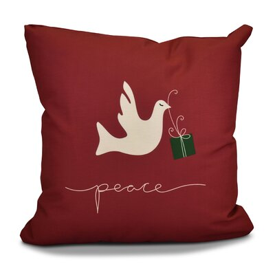Decorative Holiday Animal Print Outdoor Throw Pillow Size: 20 H x 20 W, Color: Cranberry