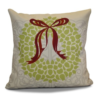 Decorative Holiday Throw Pillow Size: 16 H x 16 W, Color: Gray / Light Green