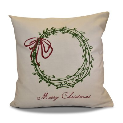 Merry Wishes Throw�Pillow Color: Green, Size: 18 H x 18 W
