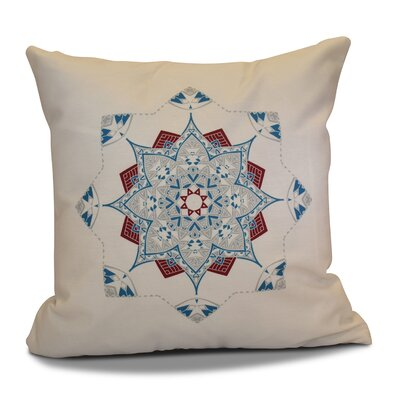 Cicco Star Throw Pillow Color: Teal/Red, Size: 18 H x 18 W